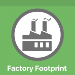 Factory Footprint Icon